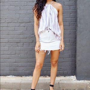 Express White Denim Skirt